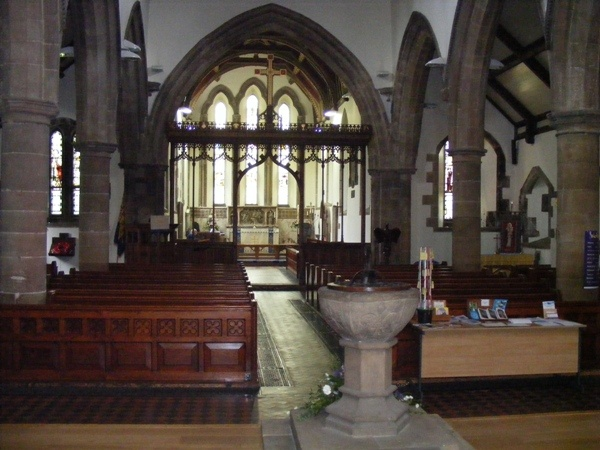 Interior of Holy Cross Church