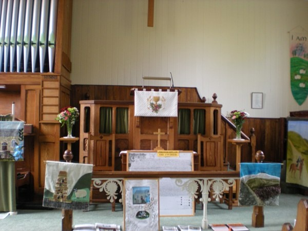 Interior of Newbiggin Methodist Chapel