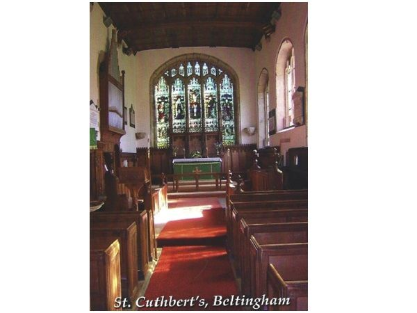 Beltingham St Cuthbert's Church - inside