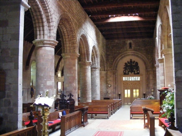 Interior of St Cuthbert's, Norham