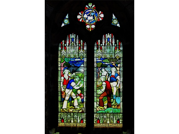 Byrness Stained Glass Window