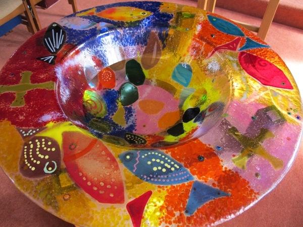 Beautiful Glass Font Bowl