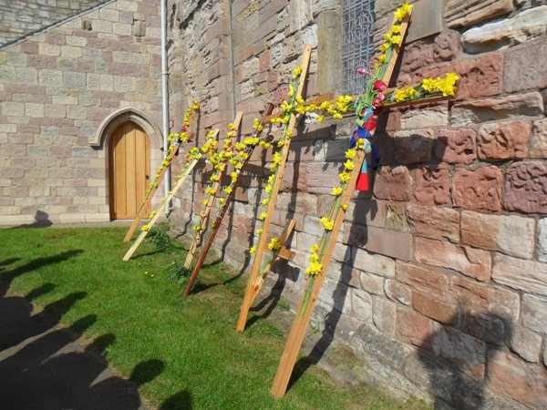 Northern Cross Pilgrimage Crosses on Easter Day