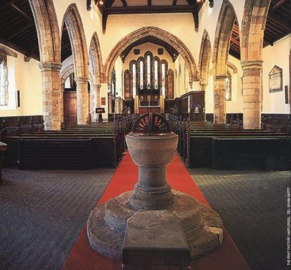 Interior of Easington Parish Church