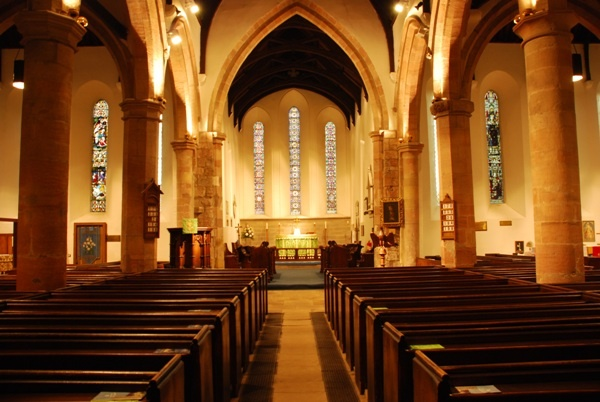 Interior of St Marys in Ovingham